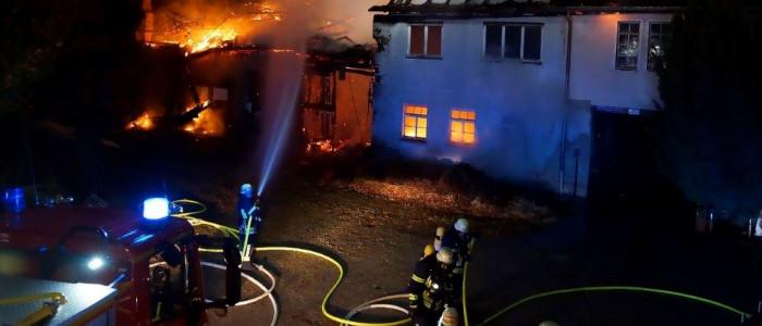 Einsatz bei einem Großbrand