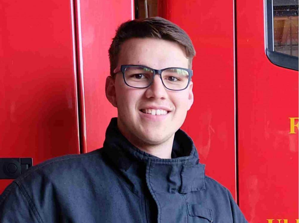 Der Leiter der Jugendfeuerwehr Sascha