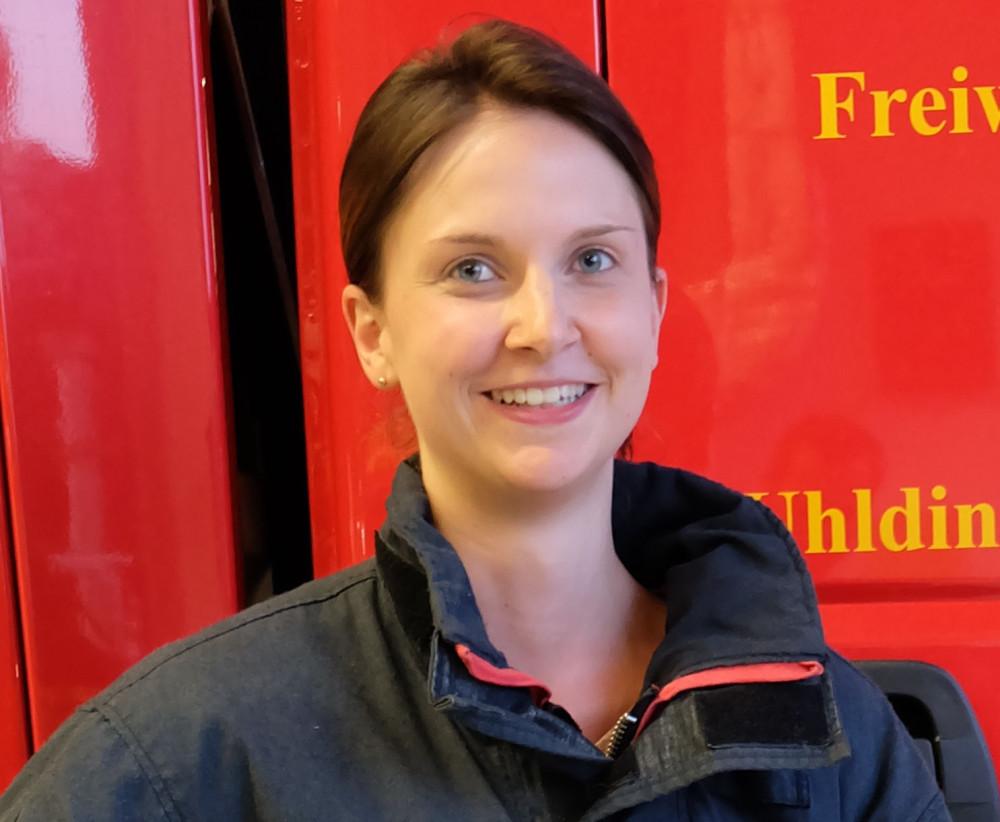 Sabrina die Leiterin der Kindergruppe in der Feuerwehr Uhldingen