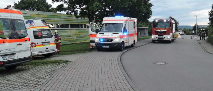 Rettungsfahrzeuge am Einsatzort